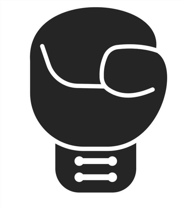 Boxhandschu schwarz