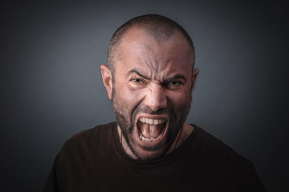 Wütender Mann
